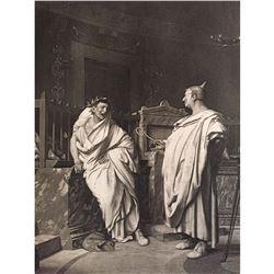 1880's Photogravure Print, Ancient Roman Priests