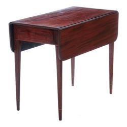18thc Federal Inlaid Mahogany Pembroke Table
