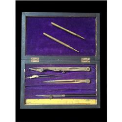 Victorian Architect Draughtsman Case & Pencils