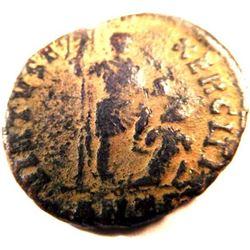 Bronze Coin of Theodosius I (379-395 A.D.)
