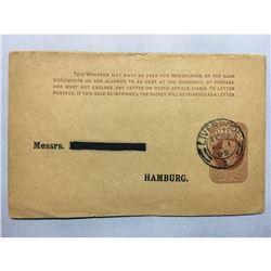 1800s London Original Postmarked Handwritten Envelope with Letter