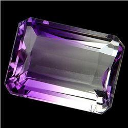 26.25ct. Purple&White ~ Bi Color Ametrine Emerald