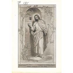 Vintage c1920's half-tone print by Perry Pictures, #798C Christ Knocking at the Door