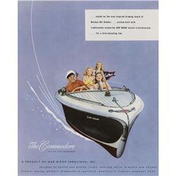 Original 1947 The Commodore Runabout Boat Ad