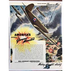 Good? Still in STOCK? 1941 Bell Aircraft Airacobra Advertisement