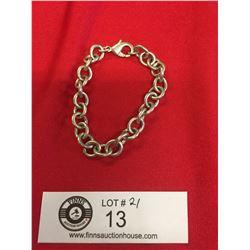 """22 Gram Sterling Silver Bracelet. 8 """" Long"""