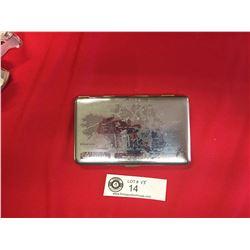 Czechoslovakia Dominion of Canada Silver Plated Cigarette Case
