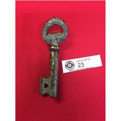 Brass Key Corkscrew/Bottle Opener 5.5 inches Long