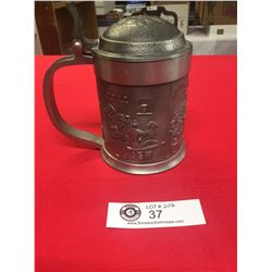 """A Good Quality Pewter Stien 6"""" Tall"""