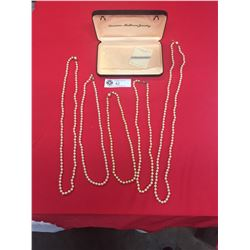 5 Vintage Pear/Pearl Like l Necklaces