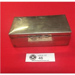Vintage Wood lined Silver Plated Box. Made in England. 6.5 x 3.5x2
