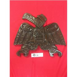 """Vintage Native Carving Wall Plaque 13.5 """" x 12"""""""