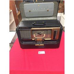 Vintage 1951-1953 Zenith Trans-Oceanic H 500 Wave Magnet Shortwave Radio. WORKING
