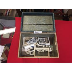 Small Vintage Suitcase with Old Photos