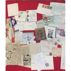 Lot of Paper Stuff from an Estate. Xmas Cards,Letters etc 1940's+1950's