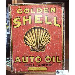 "Shell Auto Oil Company Reproduction Sign 12.5"" x 16"""