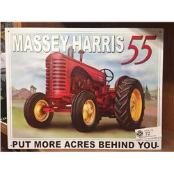 Massey-Harris 55 Tin Sign. Newer Sign