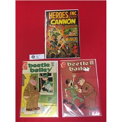 2 1964 Beete Bailey Comics Plus 1969 Heros Inc Presents Cannon. All on Cardboard and in bags