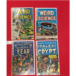 2 Tales from The Crypt Comics.#2 &3  2 Weird Science Comics # 1 &2 All in Bags on Cardboard