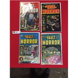 The Vault of Horror Comics #1,2,3,5 All in Comic Bags on White Cardboard