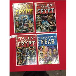 Tales From The Crypt # 1,2,3 The Horror of Fear #1 All in Comic Bags on White Cardboard