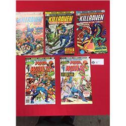 Marvel Comics Group. 3 Killraven Comics #32,33,34 Plus 2 War of the Worlds # 35,38