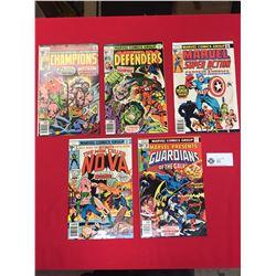 5 Marvel Comics Group Comics. Man Called Nova,Guardians of the Galaxy,Captain America,The Defenders,