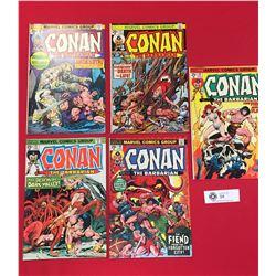 5 Conan the Barbarian Comics. Marvel Comics #40,41,44.45.46