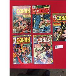 5 Conan the Barbarian Comics. Marvel Comics #51,61,68,77,78