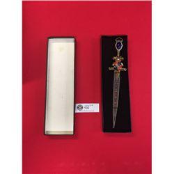 Spanish Style Dagger Letter Opener in Box