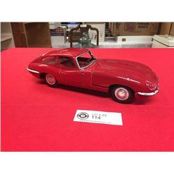 Vintage Jaguar XKE Tin Friction Car. Made in Japan