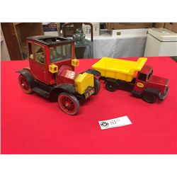 2 Vintage Made in Japan Tin Toys