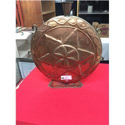 "Nice Big Copper Decorative Vase 19w x 21"" T x 3.5"" Thick"