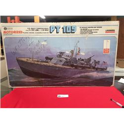 US Navy Torpedo Boat. PT 109 2.5 Feet Long 1/32 Scale Model  Partially Put together