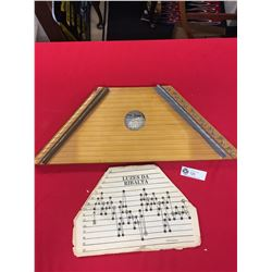 Mini Harpa Ceara 15 String Lap Harp from Brazil Comes with Sheet Music