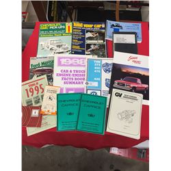Lot of Chevrolet and GM Manuals 14 Books