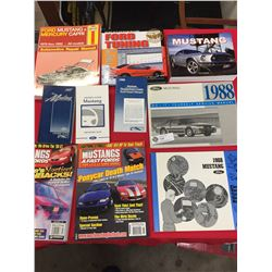 10 Books on Mustangs Manuals,Owner's Guide,Magazines