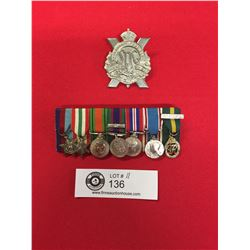 Nice WWII Group of Miniature Medals a Glengarry Cap Badge