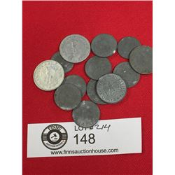 Lot of WWII Nazi German Coins