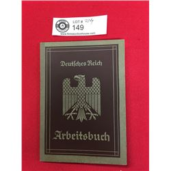 WWII German Work Book Named with Work Stamps and Dates inside