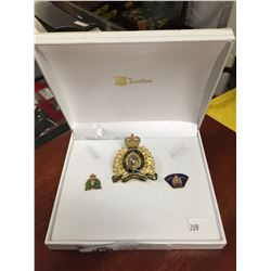 Obsolete RCMP Cap Badge and 2 other RCMP Pins