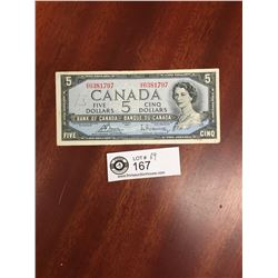 1954 Bank of Canada $5 Bank Note