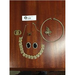 A Lot of 1950's and 1960's Costume Jewelry Coro etc