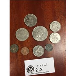 US Dollar and Other Canadian and US Coins