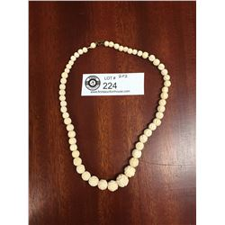 Antique Carved Bone Chinese Necklace from 1930's