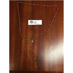 Vintage Rosary Red Beads