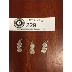 3 Sterling Silver Angel Charms