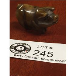 """Chinese Zodiac Jade Carving. Hand Carved """"Year of The Pig"""" Roughly 1.75"""" L x 1"""" H"""