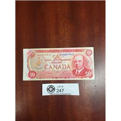 1975 Bank of Canada $50 Bank Note With RCMP Musical Ride on the Bank
