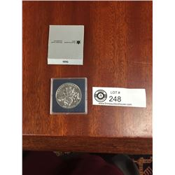 1990 Canada Silver Dollar in Case. 300th Anniversary Henry Kelsey's Expedition